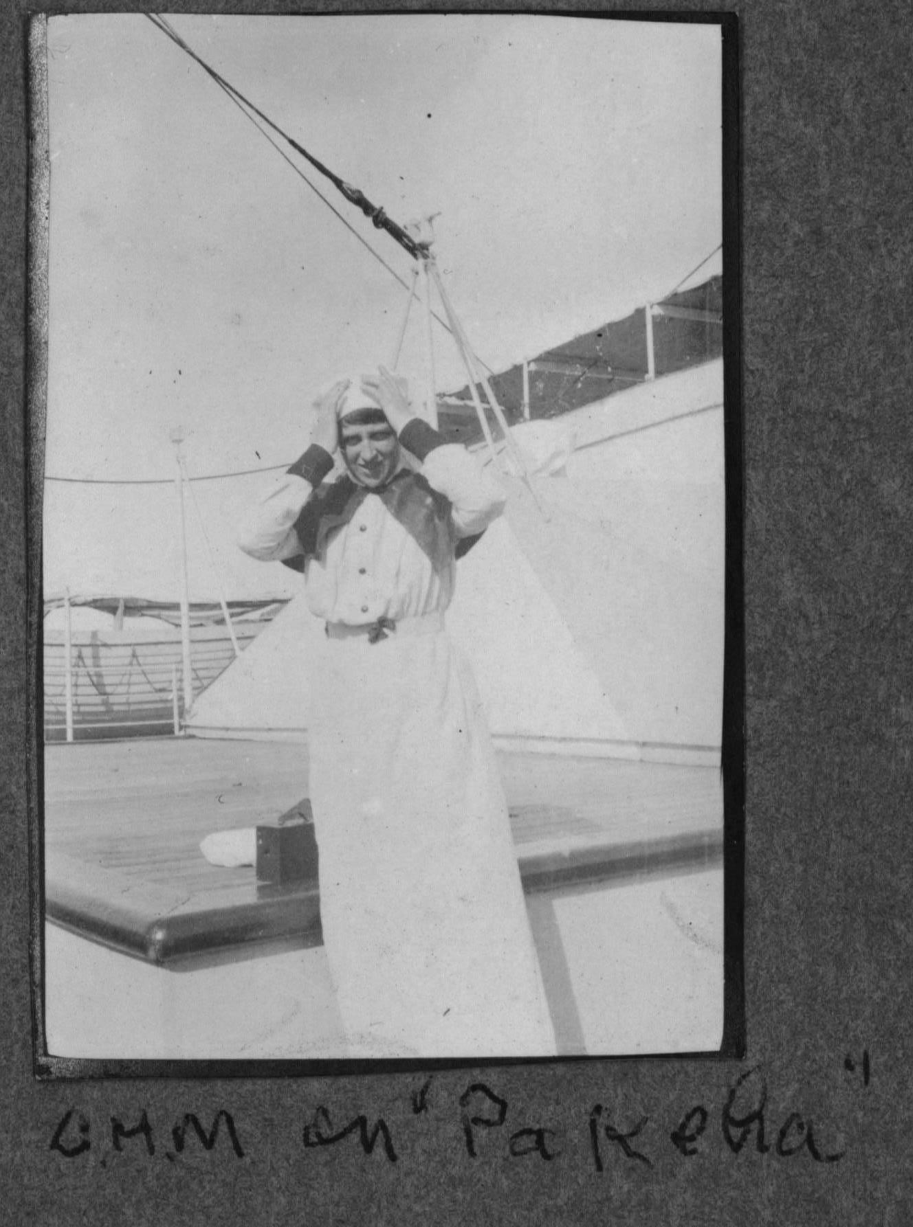 Clementina Marshall on board hospital ship PAKEHA