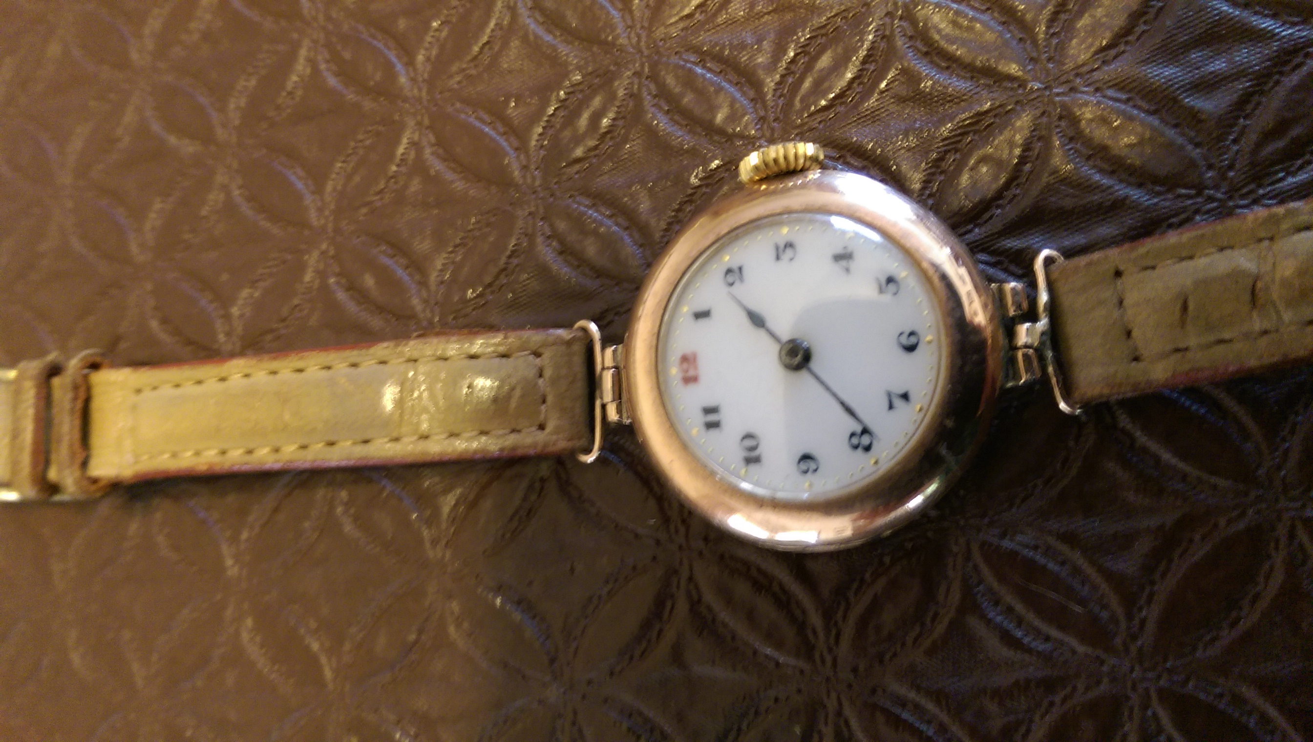 CLEMENTINA MARSHALL ROSE GOLD WATCH A GIFT FROM GRATEFULL SYDNEY HOSPITAL NURSES GIVEN TO CLEMENTINA