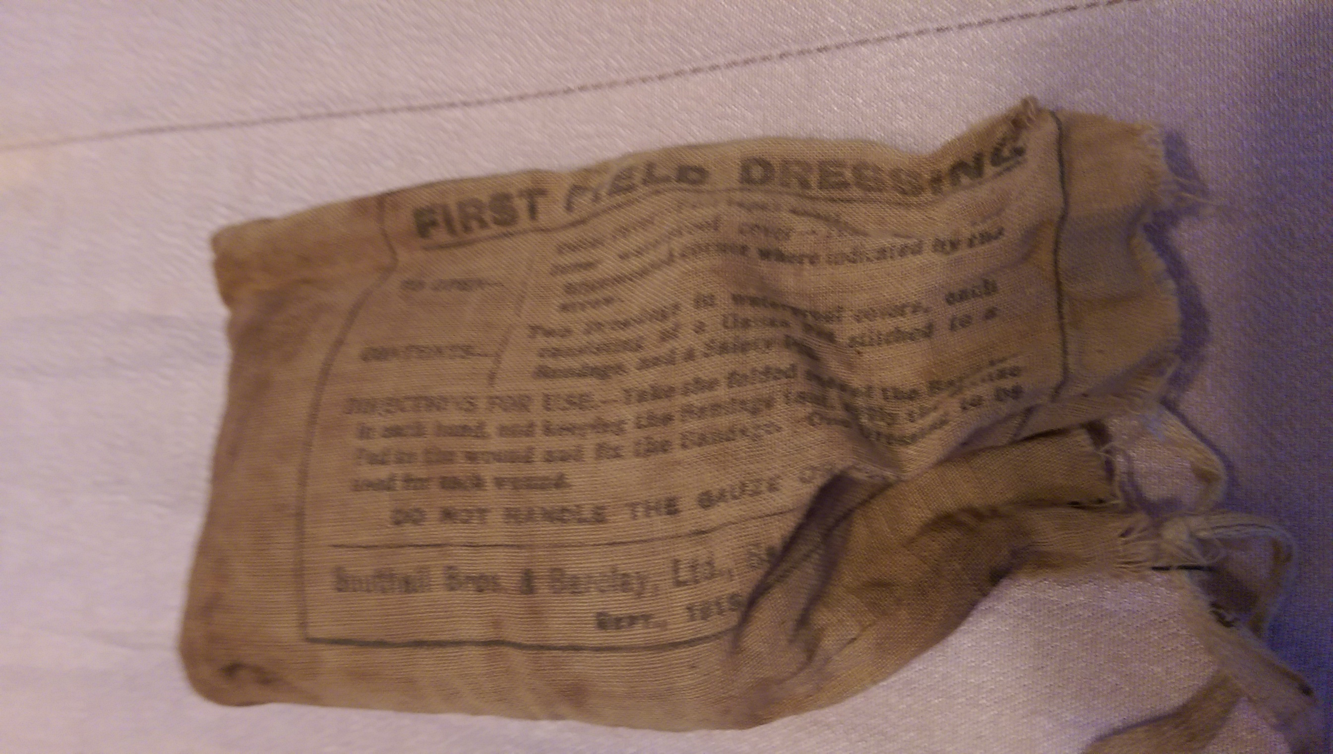 ACTUAL WW1 BADAGE, FROM CLEMENTINA NURSES UNIFORM POCKET