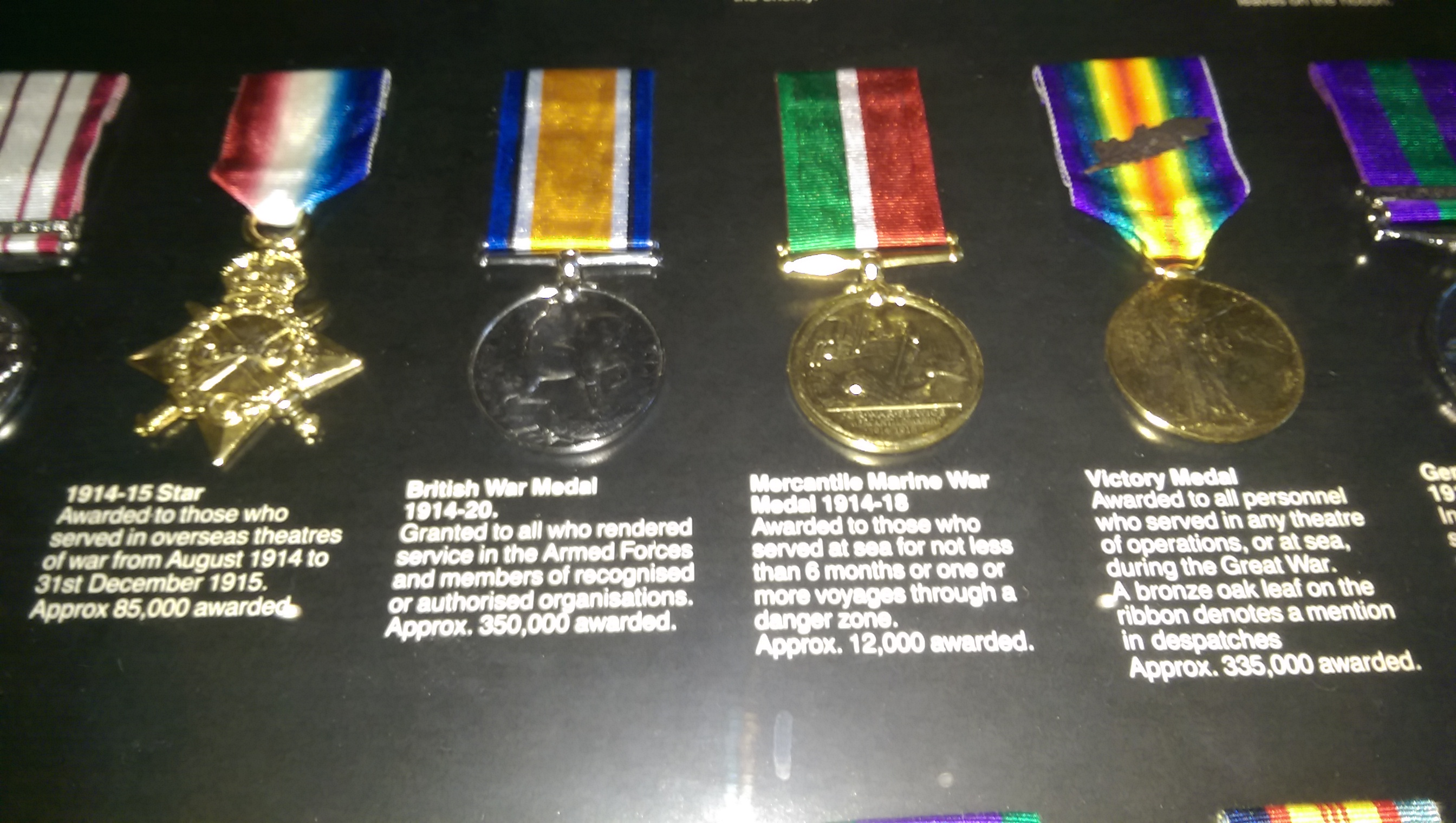 Clementinas medals ( photos of reproductions ) of originals she earnt during war time. Left to right